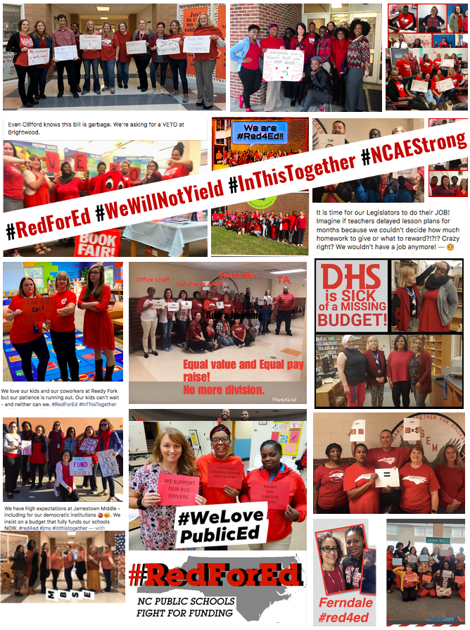 RedForEd NC Poster